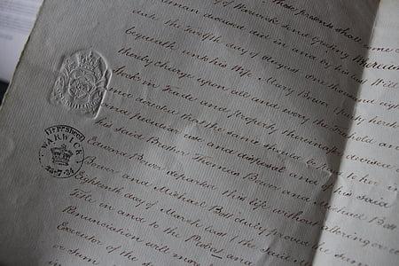 lá thư, tài liệu, chữ viết tay, giấy, kinh doanh, tài chính, hợp đồng