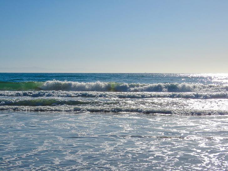 ondas, Océano, Océano Pacífico, California, de la marea