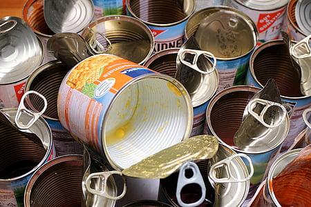 purgid, tühjad purgid, plekkpurgid, süüa, toidu, konserveerimine, mais