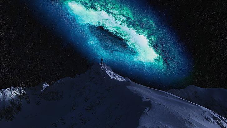 muntanya, fred, l'hivern, paisatge, neu, paisatge de muntanya, muntanyisme