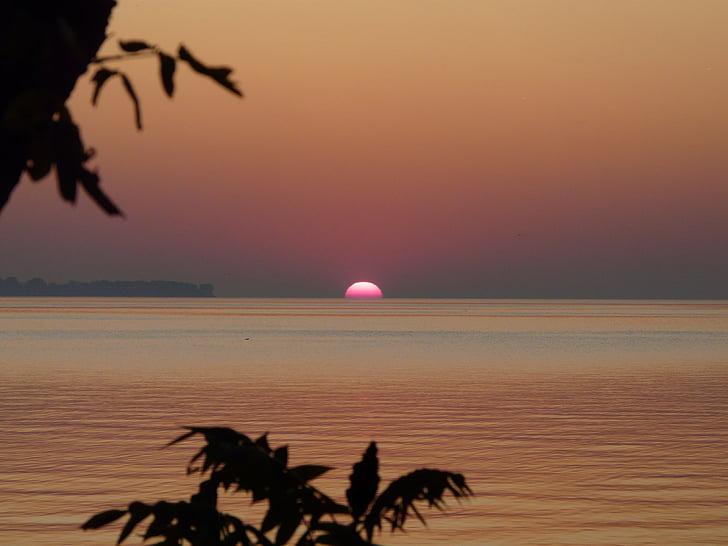 Sunrise, Lake, vee, Daybreak, taevas, maastik, loodus