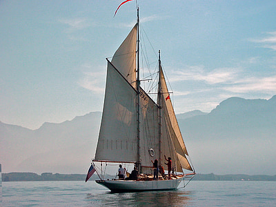 lake geneva, montreux, switzerland, sailing boat, lake, water, nautical Vessel