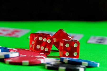játék, póker, kocka, szerencsejáték, kaszinó, kártyajáték, kártyák