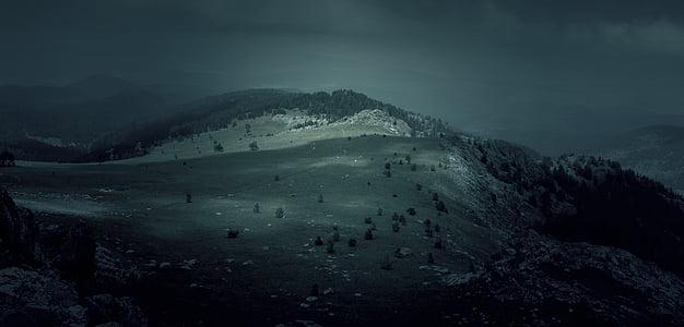 fosc, foscor, muntanyes, natura, turons, nit, ombrívol