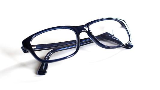 ulleres, blau, ulleres de lectura, ulleres, objecte, vista, Accessori personal