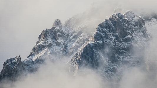 kalde, tåke, landskapet, tåke, fjell, natur, utendørs