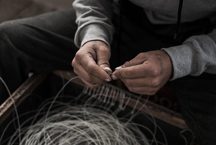 hands, fisherman, worker, work, fishing, people, fishery