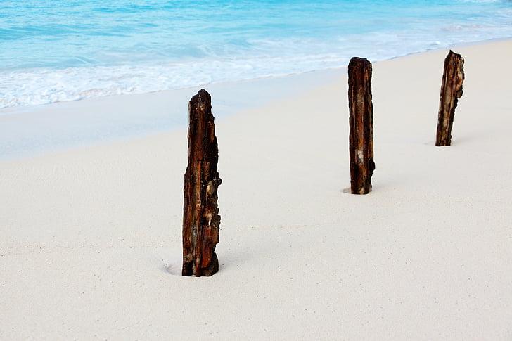 Beach, Sunny, Sea, liiv, Stick, vee, mereäär