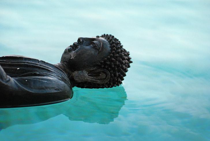 Bouddha, Zen, réflexion, luminosité, aura, paix, méditation
