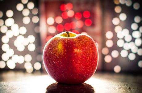 Apple, Bokeh, puu, Öine valgus, õun - puu, punane, toidu