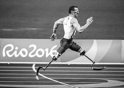 acció, adult, atleta, campió, competència, discapacitat, impossibilitar