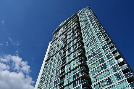 kondominium, balkon, balkon, bangunan, Apartemen, arsitektur, modern