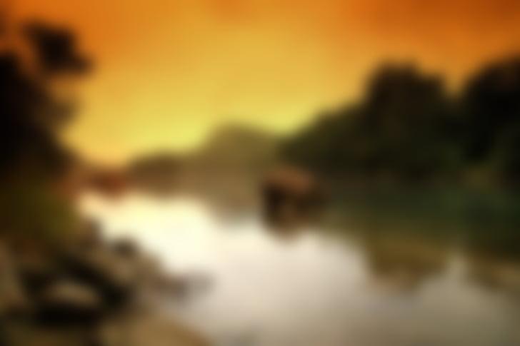 tausta, Blur, näön, River