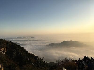 the scenery, taishan mountain, shandong