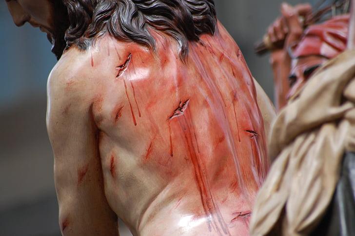 Jesús, sang, processons, Setmana Santa, processó, detenció, penitència