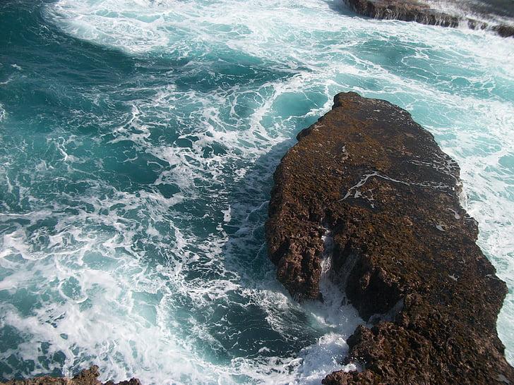sea, tropical, water, paradise, landscape, wave, caribbean