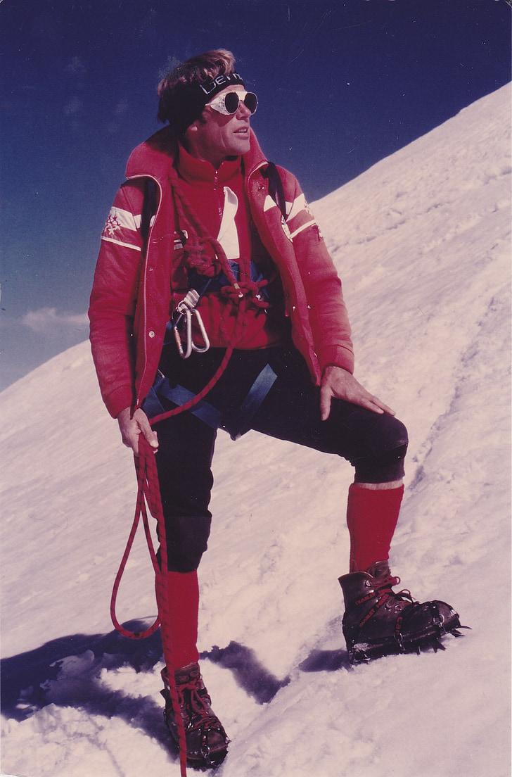 Mountain guides, bjergbestiger, Ice, Alpine, sne, bjergbestigning, høje bjerge