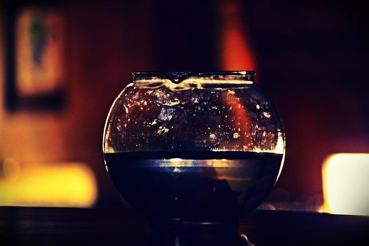 l'aigua, contenidor, fang, vidre, llum, decoratius