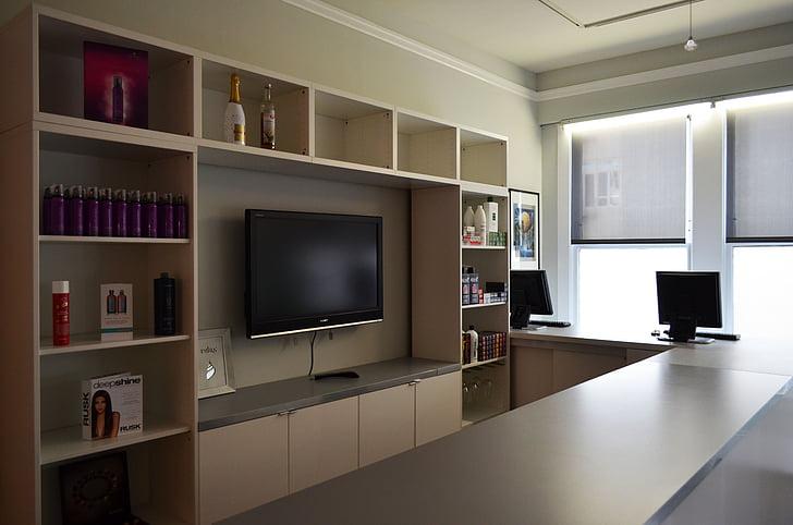 TV, intérieur, fenêtre de, mode de vie, Salon