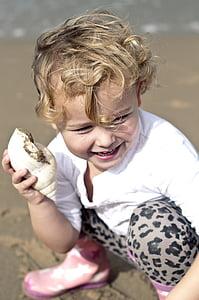 το παιδί, παραλία, στη θάλασσα, Κορίτσι, Άμμος