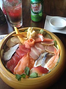 sushi, salmó, peix, aliments, marisc, japonès, àpat