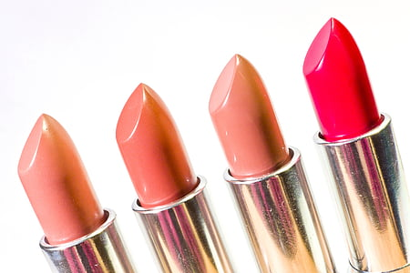 leppestift, kosmetikk, ansikt, skjønnhet, sminke, rosa, mote