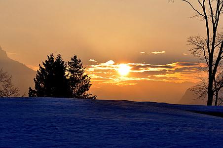 Alba, morgenstimmung, cels, il·luminació, llum del sol, matí, paisatge