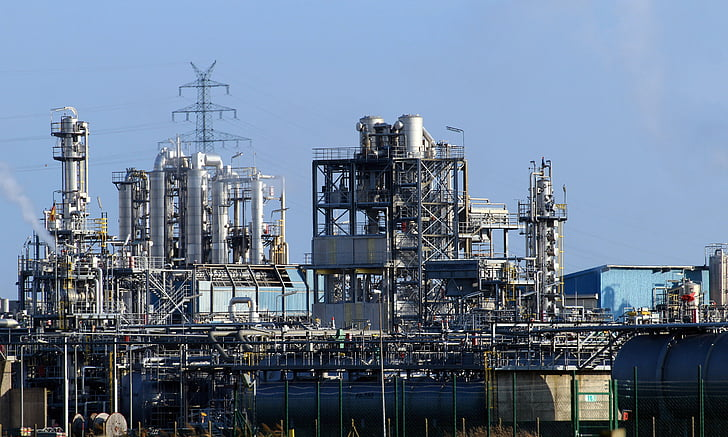 industry, industrial plant, petrochemical industry, refinery, pollution, pipes, industrial park