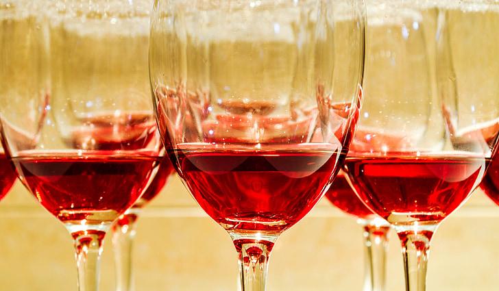 tervitusjook, jõulupidu, veini, pidu, valge, punane, Tabel
