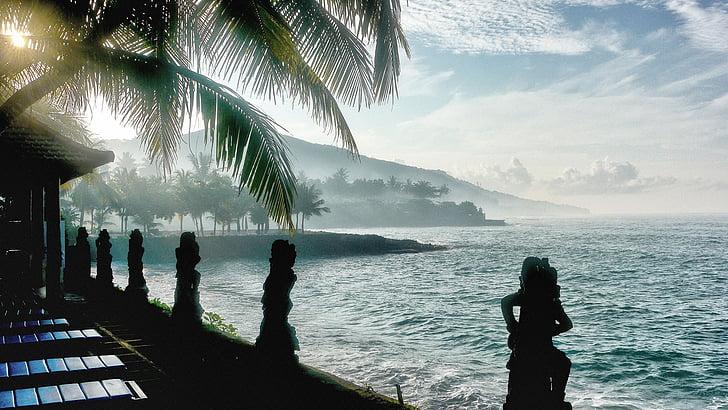 Bali, Beach, Candidasa, Travel, Sea, inimesed, loodus