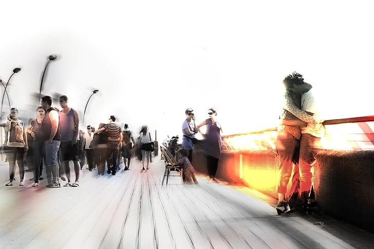 people, blur, blurred, urban, cityscape, blured people, people background