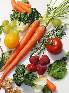 зеленчуци, вегетариански, здрави, храна, вегетариански, пресни, органични