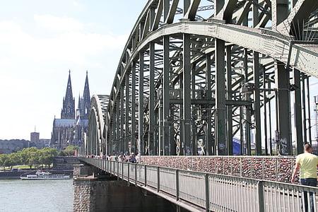 Cologne, Bridge, Nhà thờ, sông Rhine