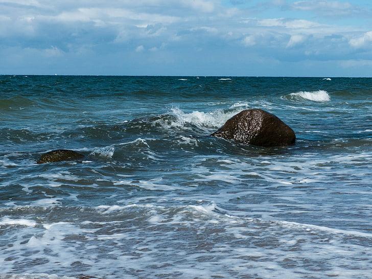 biển Baltic, tôi à?, Bãi biển, bờ biển, bằng đường biển, nước, đá