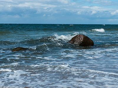 Mar Bàltic, Mar, platja, Costa, al costat del mar, l'aigua, pedres