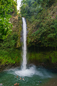 water fall, costa rica, tropical, rain forest, water, waterfall, costa