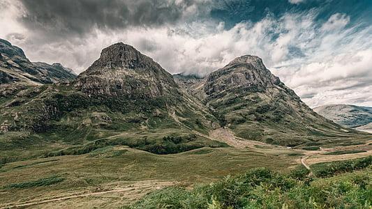 highlands and islands, scotland, highlands, nature, landscape, mood, clouds