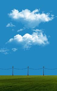 na stiahnutie, Tapeta, Sky, modrá, tráva, lampa, pole