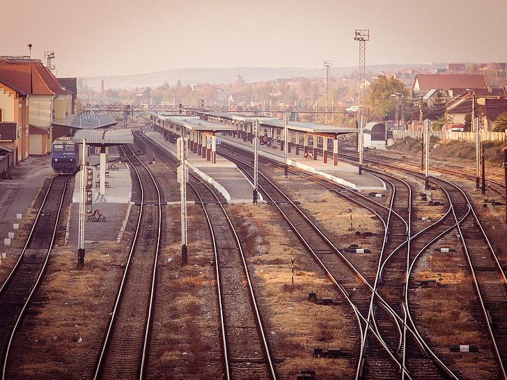 tren, estació de tren, ferrocarril, ferrocarril, pista, viatge