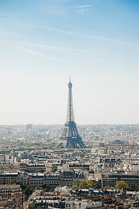Eiffel, Torre, París, França, ciutat, paisatge urbà, arquitectura