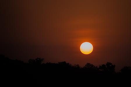 solnedgång, soluppgång, solen, naturen, Sky, sommar, landskap