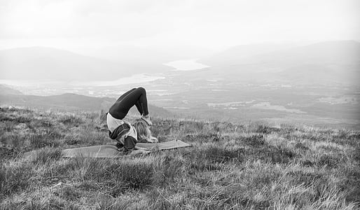 yoga, mountain, landscape, healthy, meditation, zen, female
