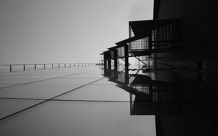 arhitekt, graafika, abstraktne, arhitektuur, ehitatud struktuur, ehitussektoris, akna