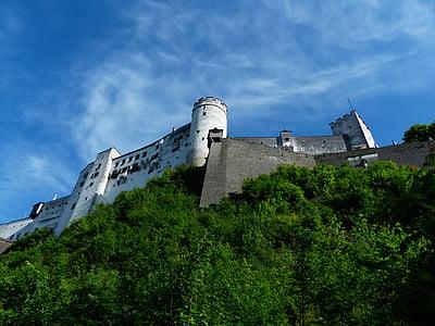фортецю Хоензальцбург, Замок, фортеця, Орієнтир, оборонні вежі, Вартова башта, вежа