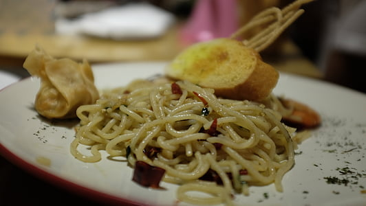 aliments, Espaguetis, pastes, italià, sopar, dinar, cuina