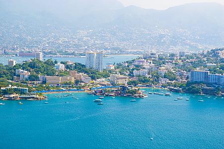 Acapulco, paradís, Mèxic, assolellat, platja, posta de sol
