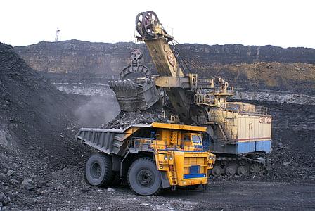 industrin, dumper, mineraler, kol, gigantiska proportioner, BelAZ, bil