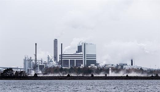 alta, augment, edifici, fotografia, industrial, edificis, magatzems