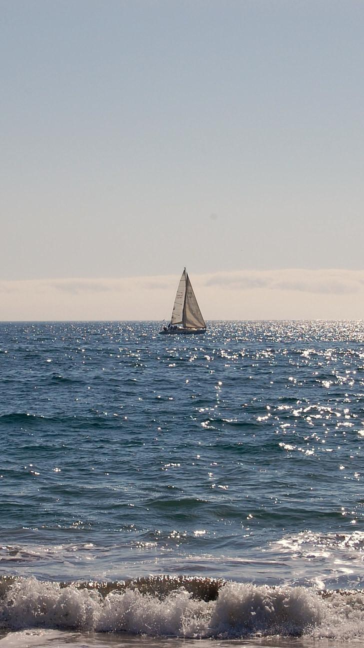 Yacht, segel, segling, båt, vind, makt, havet