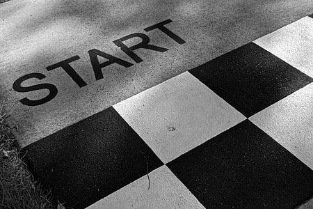Inici, preparat, competència, pista, esdeveniment, preparació, Hipòdrom